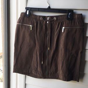 Brown soft Michael Kors mini skirt